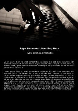 Pianist Word Template Cover Page