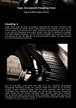 Pianist Word Template First Inner Page