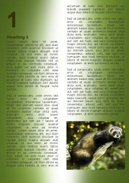 Free Polecat Word Template, First Inner Page, 06239, Agriculture and Animals — PoweredTemplate.com