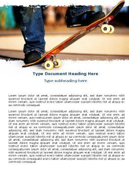 Skateboarder Word Template, Cover Page, 06241, Sports — PoweredTemplate.com