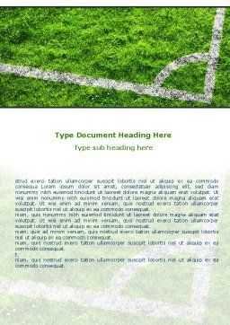 Soccer Playground Word Template, Cover Page, 06242, Sports — PoweredTemplate.com