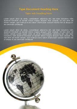Geography Word Template, Cover Page, 06246, Global — PoweredTemplate.com