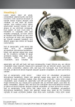 Geography Word Template, First Inner Page, 06246, Global — PoweredTemplate.com