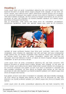 Free Football Fans Word Template, First Inner Page, 06249, Sports — PoweredTemplate.com