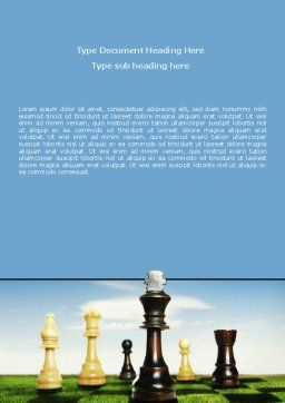 Chess King Word Template, Cover Page, 06250, Business Concepts — PoweredTemplate.com