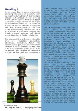 Chess King Word Template, First Inner Page, 06250, Business Concepts — PoweredTemplate.com