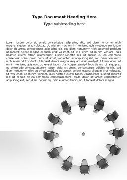 Round Table Word Template, Cover Page, 06251, Business — PoweredTemplate.com