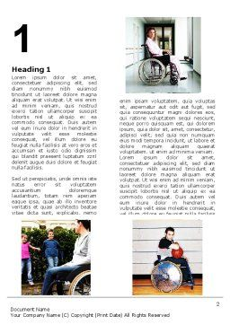 Disabled People Word Template, First Inner Page, 06256, Sports — PoweredTemplate.com