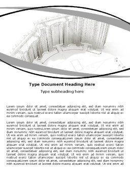 Building Draft Word Template, Cover Page, 06259, Construction — PoweredTemplate.com