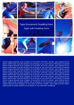 Athlete Word Template, Cover Page, 06260, Sports — PoweredTemplate.com