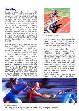 Athlete Word Template, First Inner Page, 06260, Sports — PoweredTemplate.com