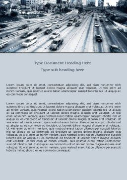 City Highway Word Template, Cover Page, 06261, Cars/Transportation — PoweredTemplate.com
