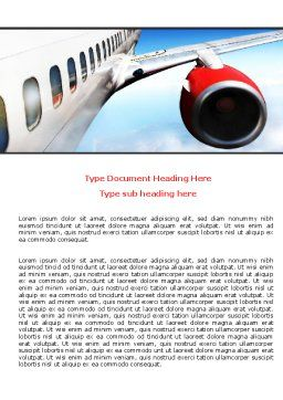 Commercial Airliner In Flight Word Template, Cover Page, 06263, Cars/Transportation — PoweredTemplate.com