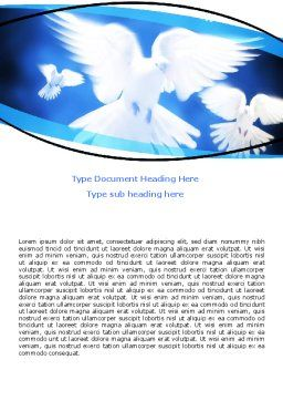 Flying Doves Word Template, Cover Page, 06264, Religious/Spiritual — PoweredTemplate.com