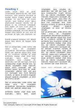 Flying Doves Word Template, First Inner Page, 06264, Religious/Spiritual — PoweredTemplate.com