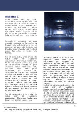 Underground Tunnel Word Template, First Inner Page, 06267, Construction — PoweredTemplate.com