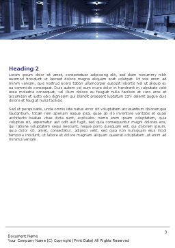 Underground Tunnel Word Template, Second Inner Page, 06267, Construction — PoweredTemplate.com