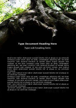 Tree Root Word Template, Cover Page, 06268, Nature & Environment — PoweredTemplate.com