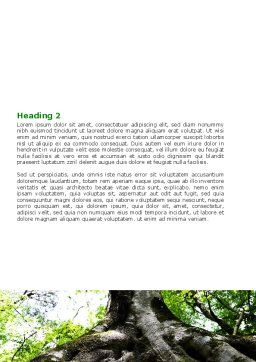 Tree Root Word Template, Second Inner Page, 06268, Nature & Environment — PoweredTemplate.com
