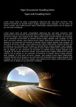 Automobile Tunnel Word Template, Cover Page, 06275, Construction — PoweredTemplate.com