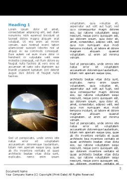 Automobile Tunnel Word Template, First Inner Page, 06275, Construction — PoweredTemplate.com