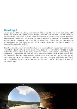 Automobile Tunnel Word Template, Second Inner Page, 06275, Construction — PoweredTemplate.com