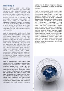 World Outlook Word Template, First Inner Page, 06277, General — PoweredTemplate.com