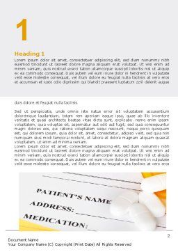 Medical Records In Data Base Word Template, First Inner Page, 06278, Medical — PoweredTemplate.com
