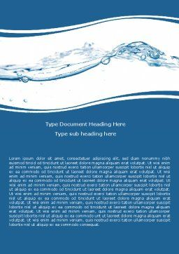 Water Splash Word Template Cover Page