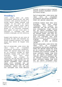 Water Splash Word Template First Inner Page