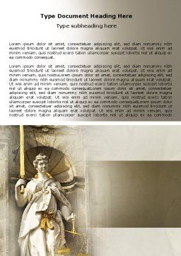 Lady Justice Word Template Cover Page