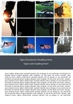 American Revolution Word Template, Cover Page, 06282, America — PoweredTemplate.com