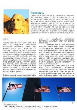 American Revolution Word Template First Inner Page