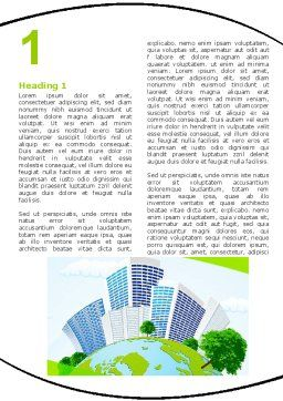 Green City Word Template, First Inner Page, 06283, Nature & Environment — PoweredTemplate.com