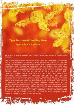 Autumn Colors Word Template Cover Page