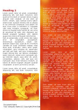 Autumn Colors Word Template First Inner Page
