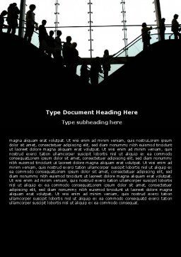 Escalators Word Template, Cover Page, 06287, Business — PoweredTemplate.com