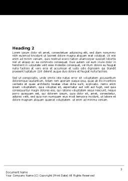 Escalators Word Template, Second Inner Page, 06287, Business — PoweredTemplate.com