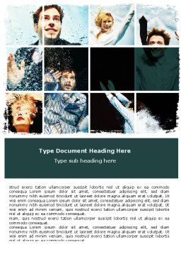 Businessmen Underwater Word Template, Cover Page, 06298, Consulting — PoweredTemplate.com