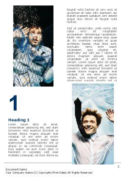 Businessmen Underwater Word Template, First Inner Page, 06298, Consulting — PoweredTemplate.com
