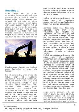 Power Shovel Word Template, First Inner Page, 06299, Utilities/Industrial — PoweredTemplate.com