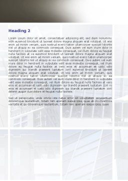 Business Center Puzzle Word Template, Second Inner Page, 06308, Consulting — PoweredTemplate.com