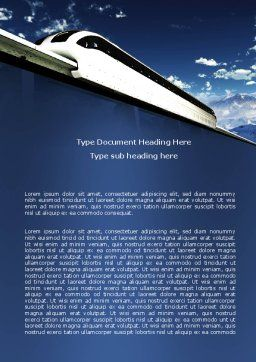 Monorail Word Template, Cover Page, 06309, Cars/Transportation — PoweredTemplate.com