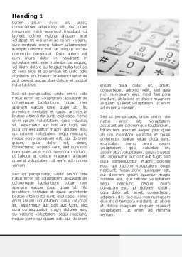 Phone Dial Pad Word Template, First Inner Page, 06310, Telecommunication — PoweredTemplate.com
