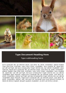 Squirrel Word Template, Cover Page, 06311, Agriculture and Animals — PoweredTemplate.com