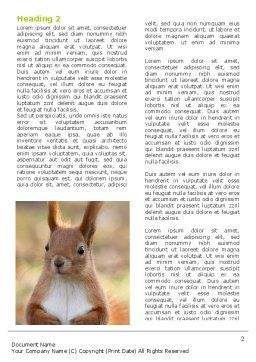 Squirrel Word Template, First Inner Page, 06311, Agriculture and Animals — PoweredTemplate.com