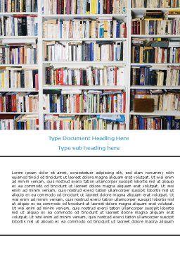 Book Shelves Word Template, Cover Page, 06313, Education & Training — PoweredTemplate.com