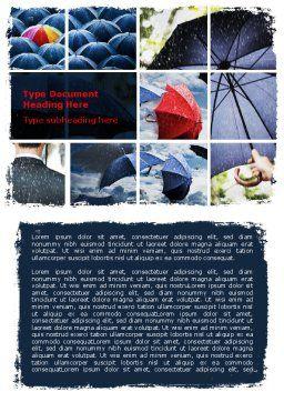 Umbrella Mania Word Template, Cover Page, 06314, Consulting — PoweredTemplate.com