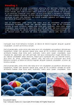 Umbrella Mania Word Template, First Inner Page, 06314, Consulting — PoweredTemplate.com