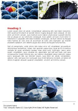 Umbrella Mania Word Template, Second Inner Page, 06314, Consulting — PoweredTemplate.com